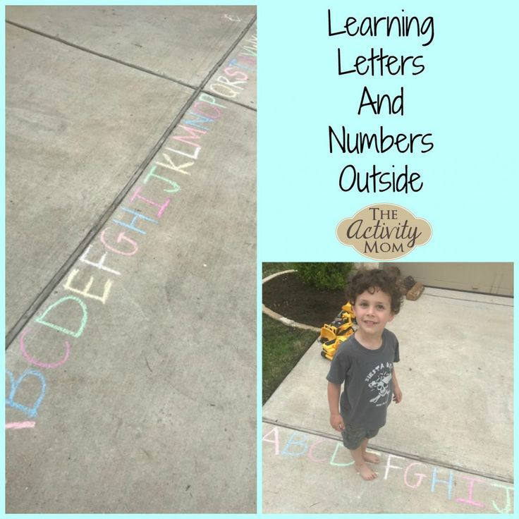 Learning Letters and Numbers Outside  The Activity Mom Learning Letters and Numbers Outside 4 Ways to play and learn letters and numbers outside