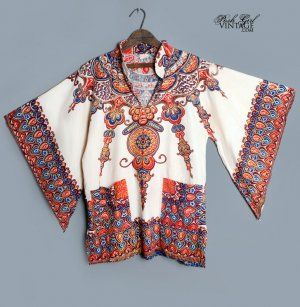 1960s Hippie Dashiki Top