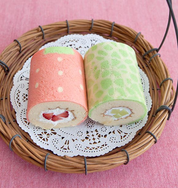 Cute Deco Cake Rolls Junko Decorated Roll And Cakes