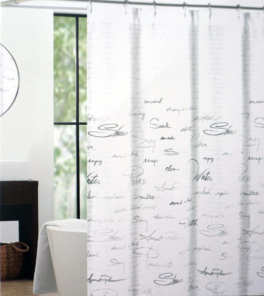 Terry Cloth Shower Curtain Extra Long
