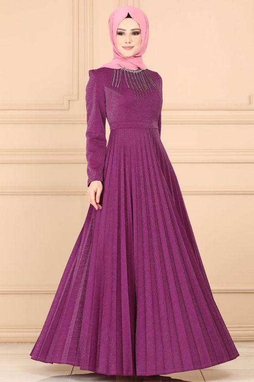 Modaselvim Elbise Tas Kolyeli Piliseli Elbise 637l263 Murdum Elbise Modelleri Elbiseler Elbise