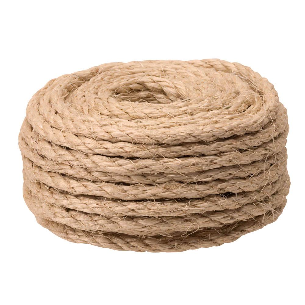 Everbilt 1 4 In X 50 Ft Twisted Sisal Rope Twine Natural 73116 In 2020 Sisal Rope Natural Sisal Sisal