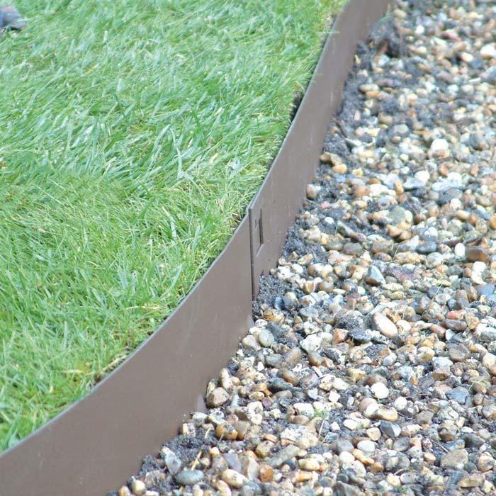 Superb Brown Flexible Steel Lawn Edging