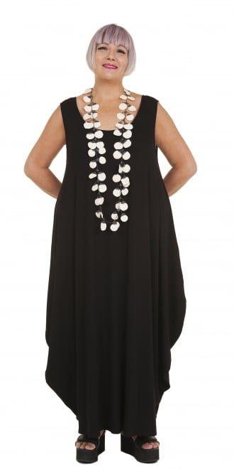 Yiannis Karitsiotis Black Jersey Circle Dress