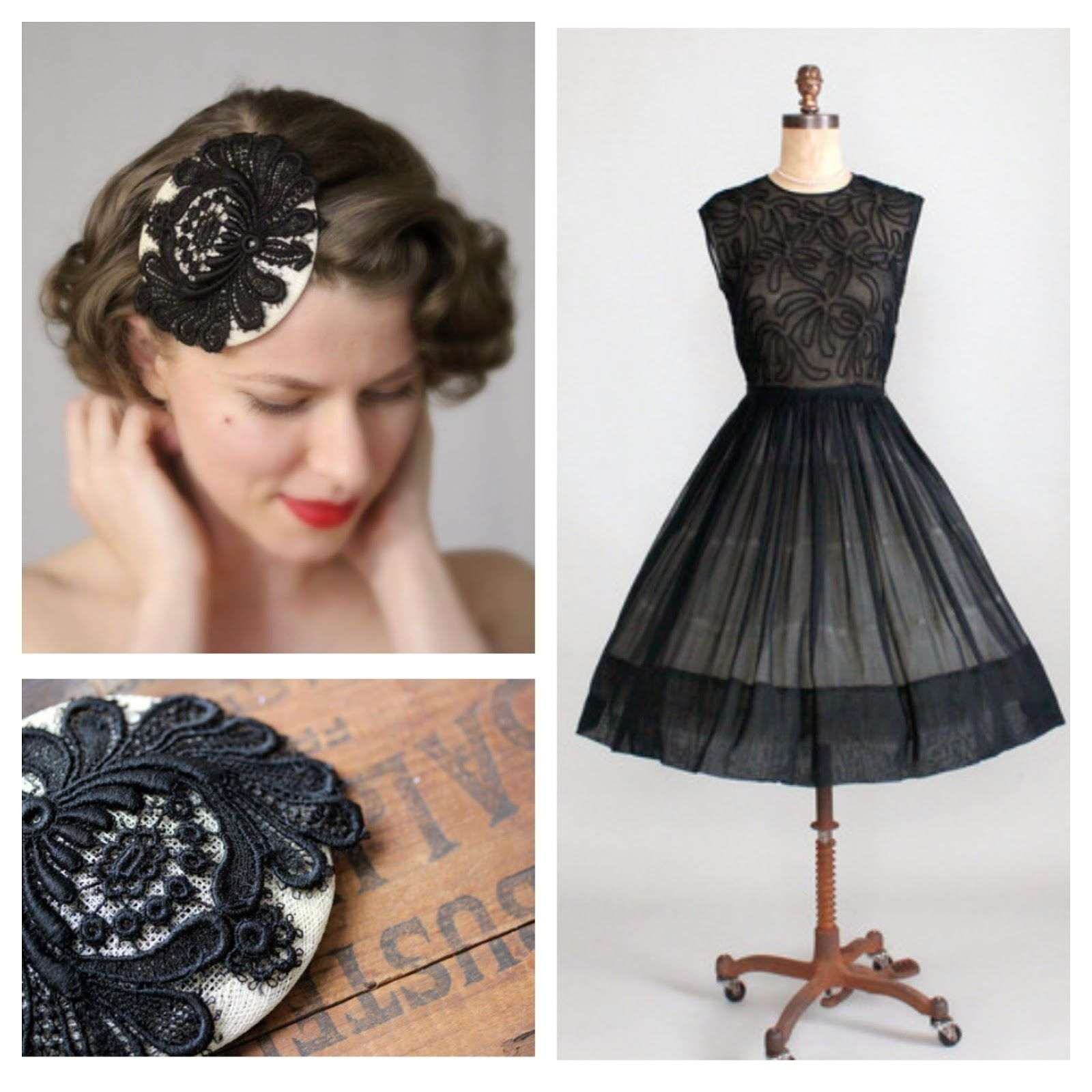1950s Cocktail Party #1950s #party #cocktail #dress #black #lbd #50s ...
