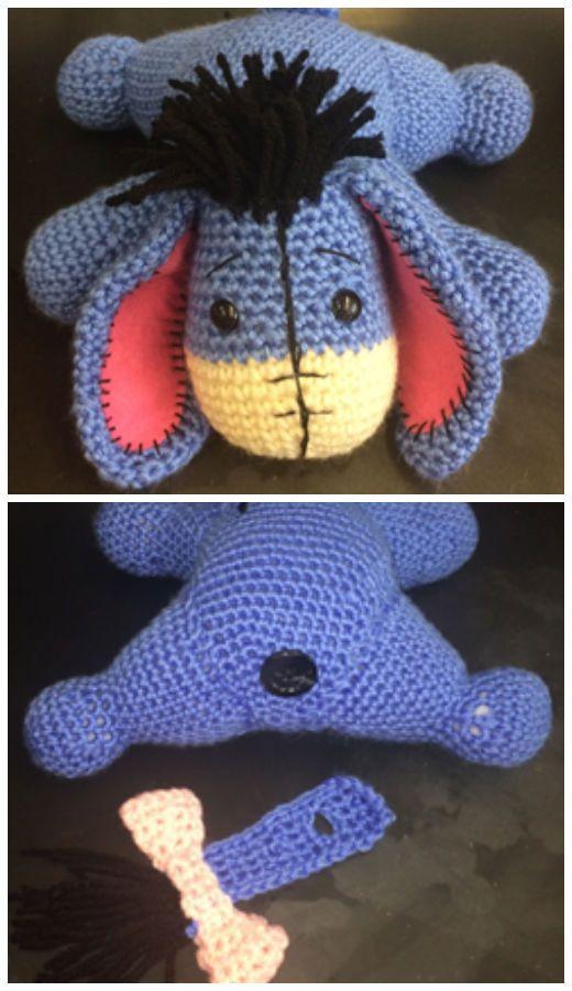 Amigurumi Crochet Eeyore Toy Free Pattern | Malerist, DIY and crafts ...