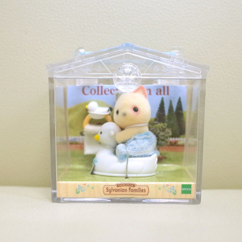 Sylvanian Families Calico Critters Rabbit on Baby Chair Carry Case