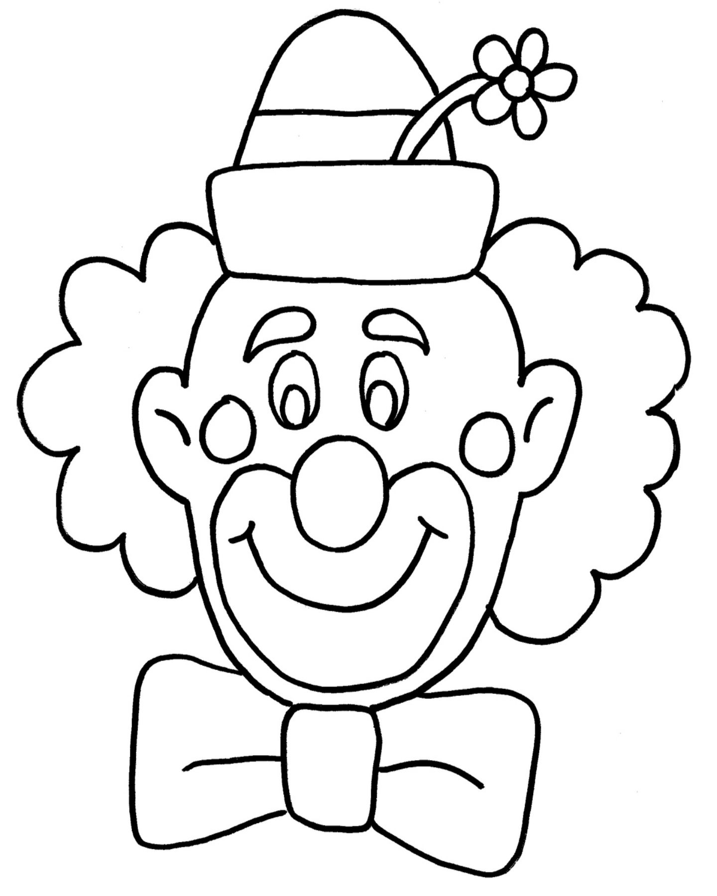 Free Clown Coloring Page | where are my crayons? | Pinterest | Red ...