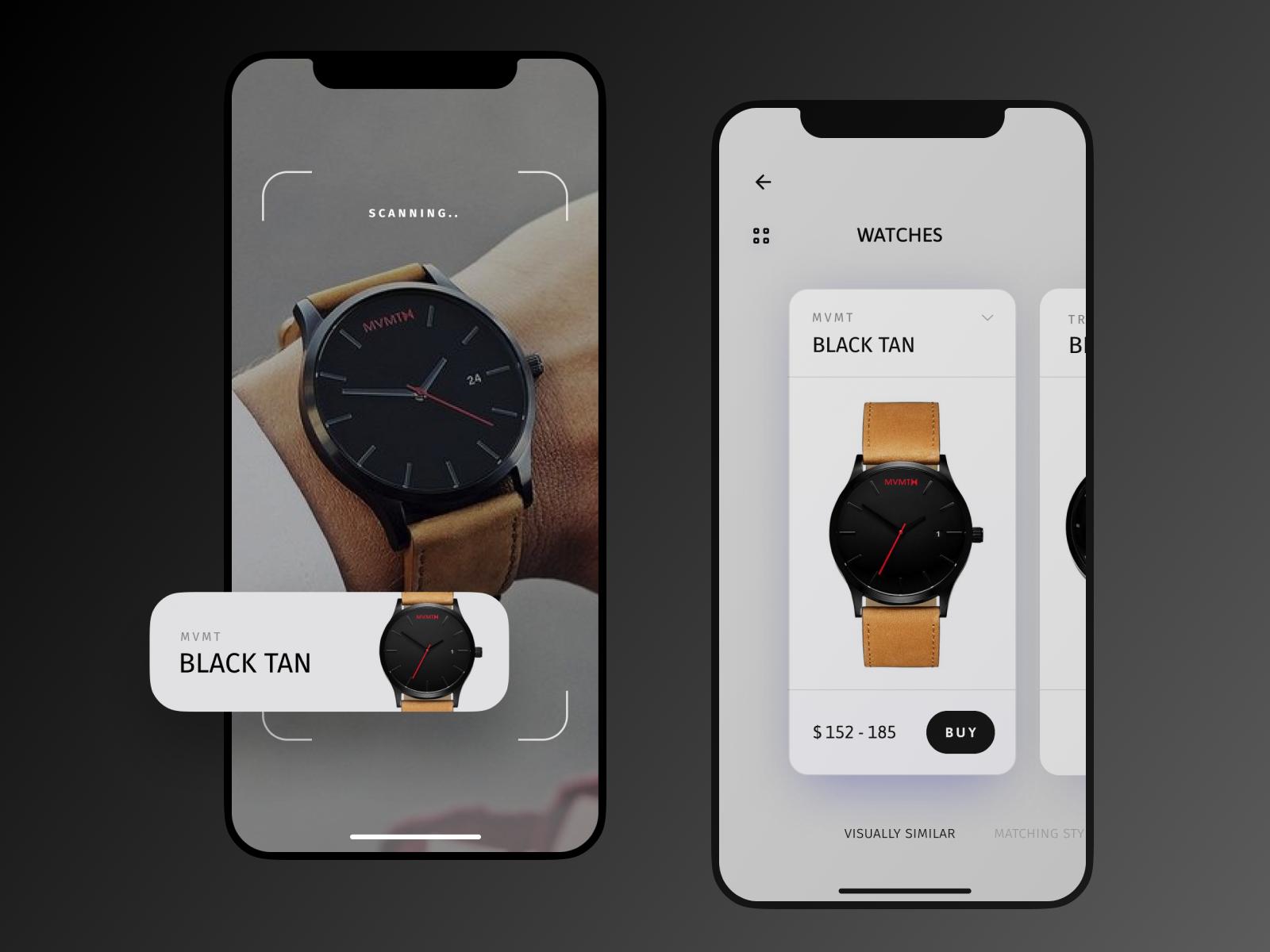 AR - Concept app (watches) | UI · UX | App design, Mobile app design