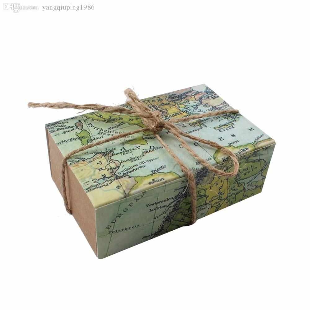 Novelty world map gift box for christmas decorations kraft paper novelty world map gift box for christmas decorations kraft paper candy boxes for guests wedding favors gift packaging bag dropship buy cheap wrapping paper gumiabroncs Image collections