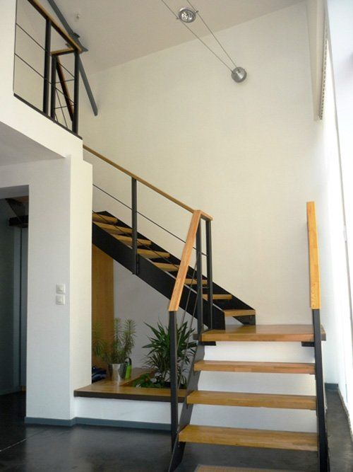 decoracion-escaleras-madera-metaljpg (500×667) House Pinterest - Diseo De Escaleras Interiores