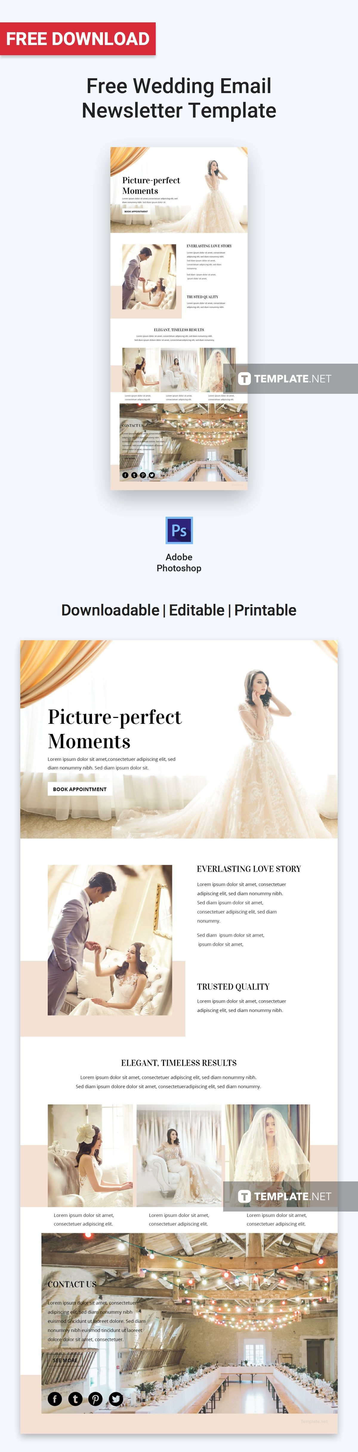 Free Wedding Email Newsletter Email Newsletters Templates