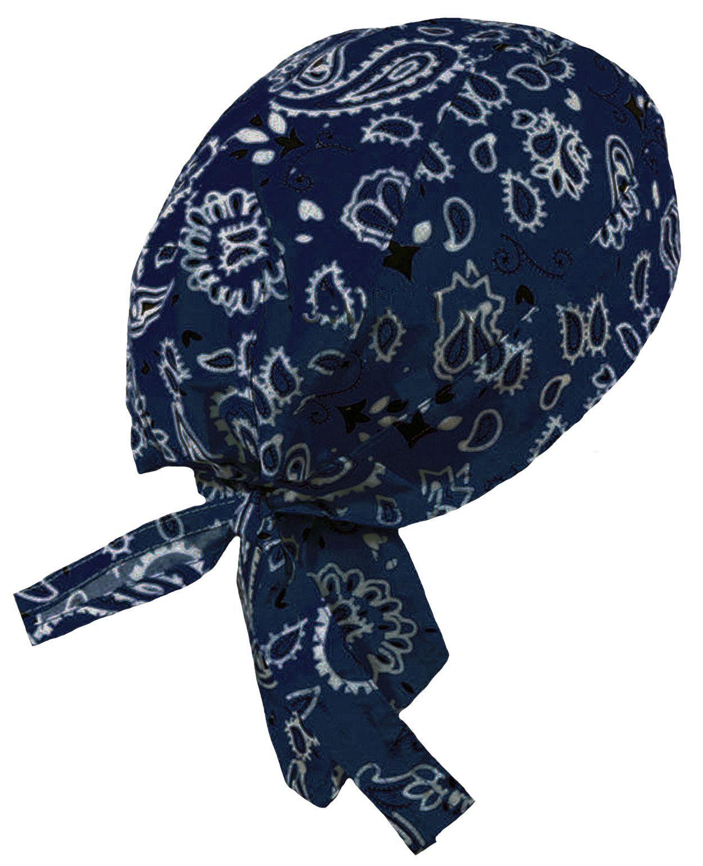 Navy Blue Headwrap Doo Rag Durag Skull Cap Cotton Sporty Motorcycle Hat