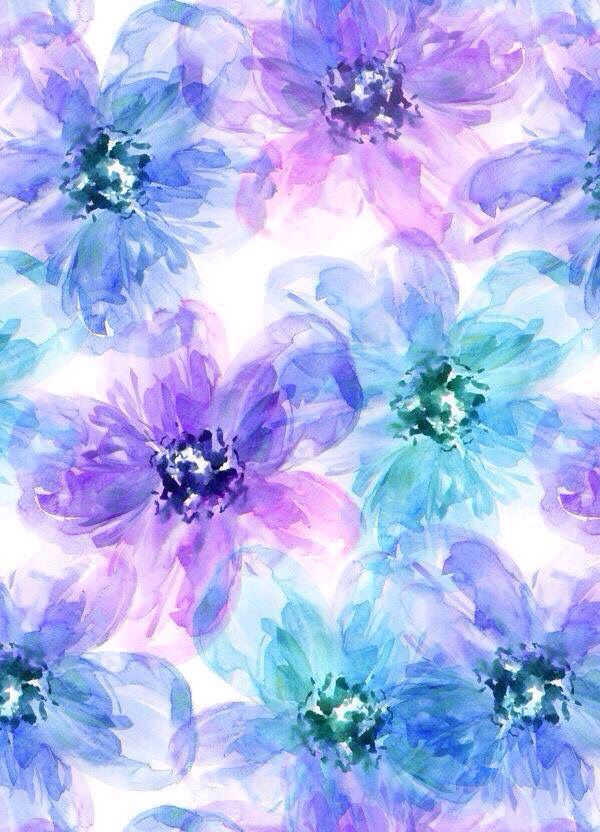 Watercolor Purple Flowers Iphone Background Flower Iphone