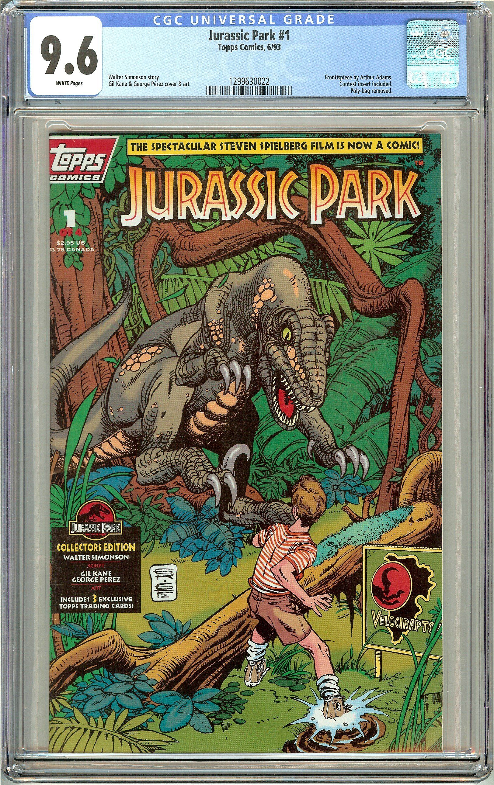 Jurassic Park 1 Topps Comics CGC 9.6 White Pages (1993