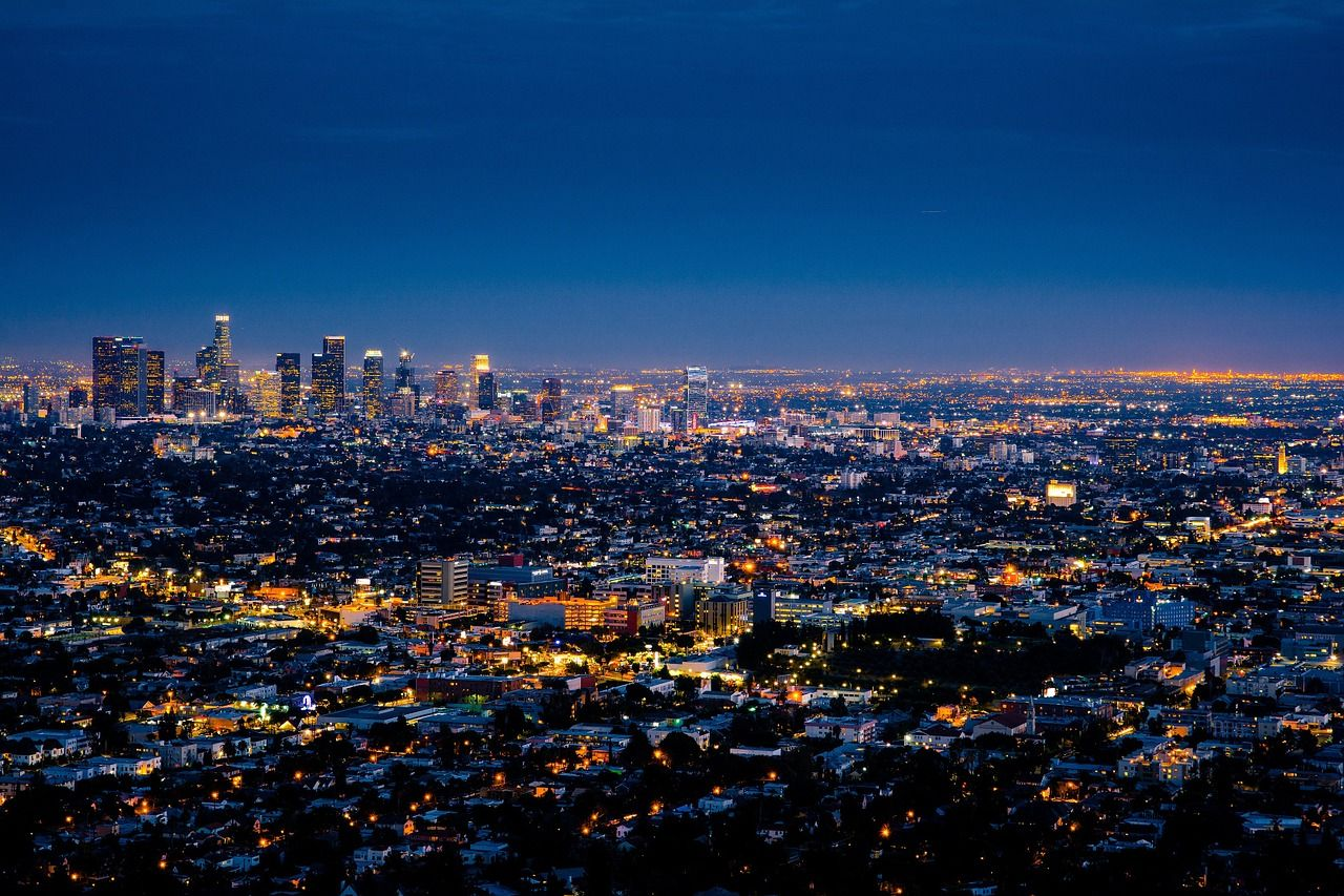 Los Angeles cityscape at night photography
