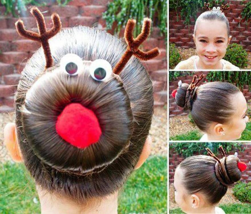 How to make rudolph the reindeer bun holiday hairstyles step by step how to make rudolph the reindeer bun holiday hairstyles step by step diy tutorial instructions solutioingenieria Gallery
