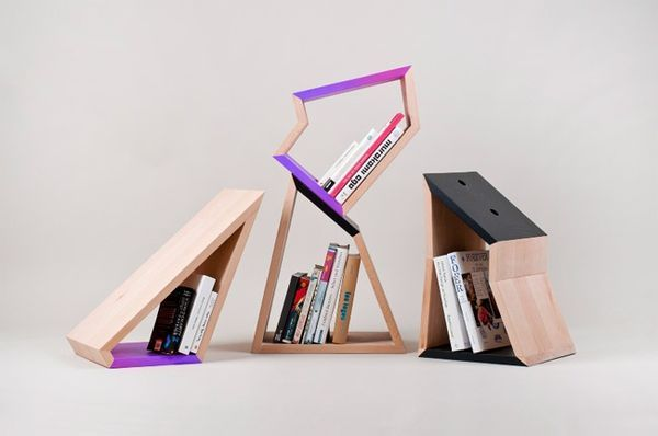 Beautiful The Small Bookshelf By Lenka Czereova Combines Irregular Forms #storage  Trendhunter.com