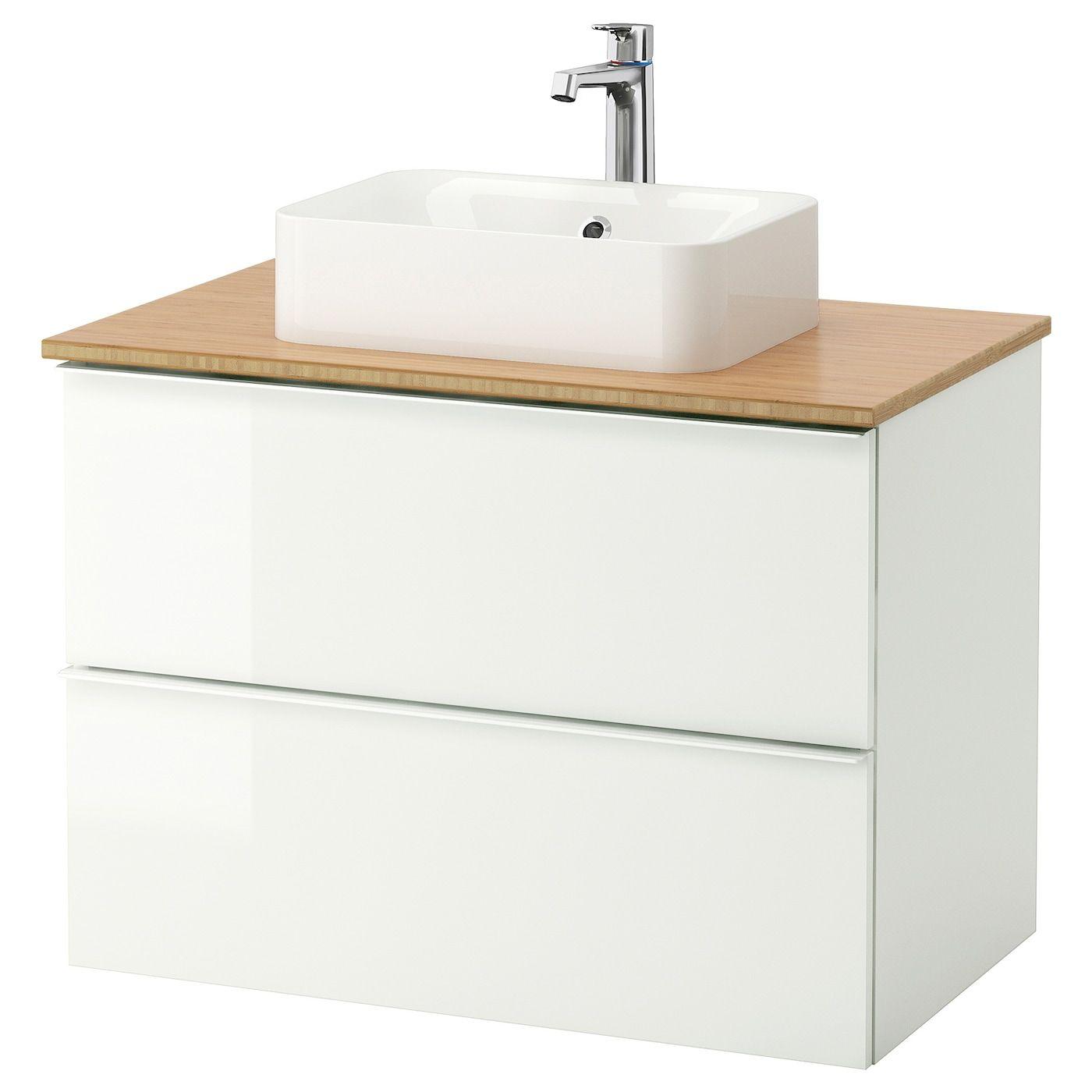 GODMORGON/TOLKEN / HÖRVIK Armario/lavabo +encimera en 15