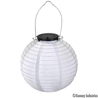 Paper Lanterns Walmart Entrancing Outdoor Solar Paper Lantern White  Gemmy Light Show  Pinterest Inspiration