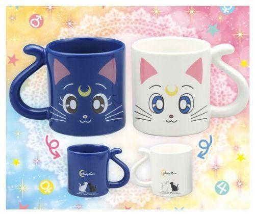 COOL JAPAN SHOP - Pretty Soldier Sailor Moon Luna and Artemis pair mug cup, $47.31 (http://www.cooljapan-shop.com/pretty-soldier-sailor-moon-luna-and-artemis-pair-mug-cup/)
