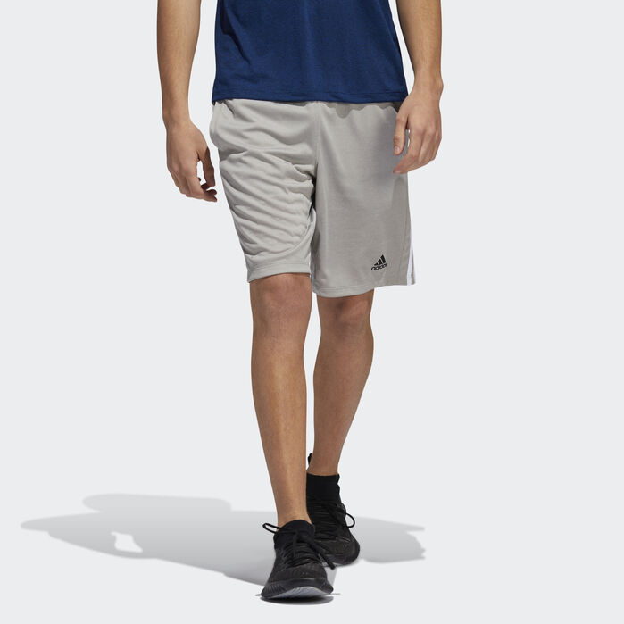 4KRFT Sport Heather 3 Stripes Shorts Grey Mens | Products in