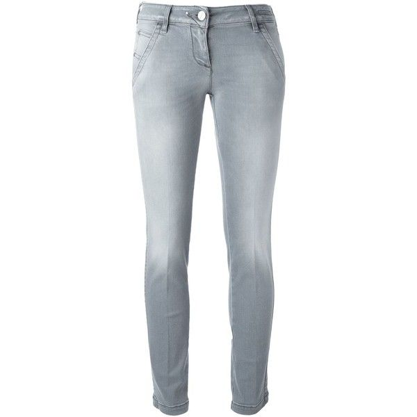 Jacob Cohen Skinny Jeans ($261) ❤ liked on Polyvore featuring jeans, grey, grey skinny jeans, gray jeans, skinny fit jeans, skinny leg jeans and grey jeans