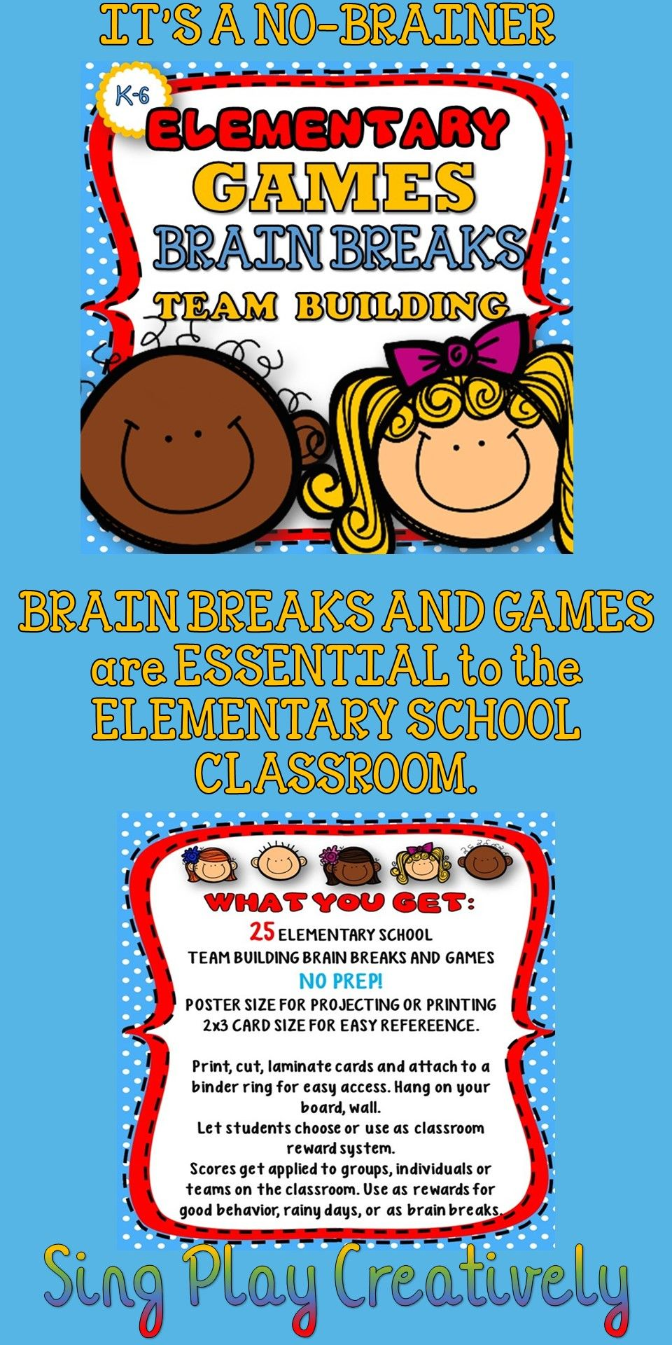 Elementary Brain Breaks, Games, Songs, Rules, and Manners
