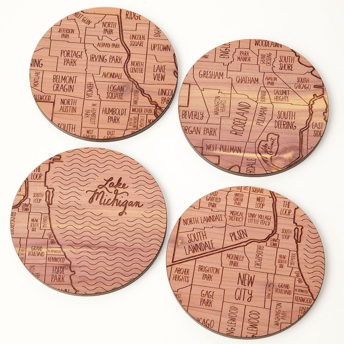 Neighborwoods Map Coasters Best Map Coasters And City