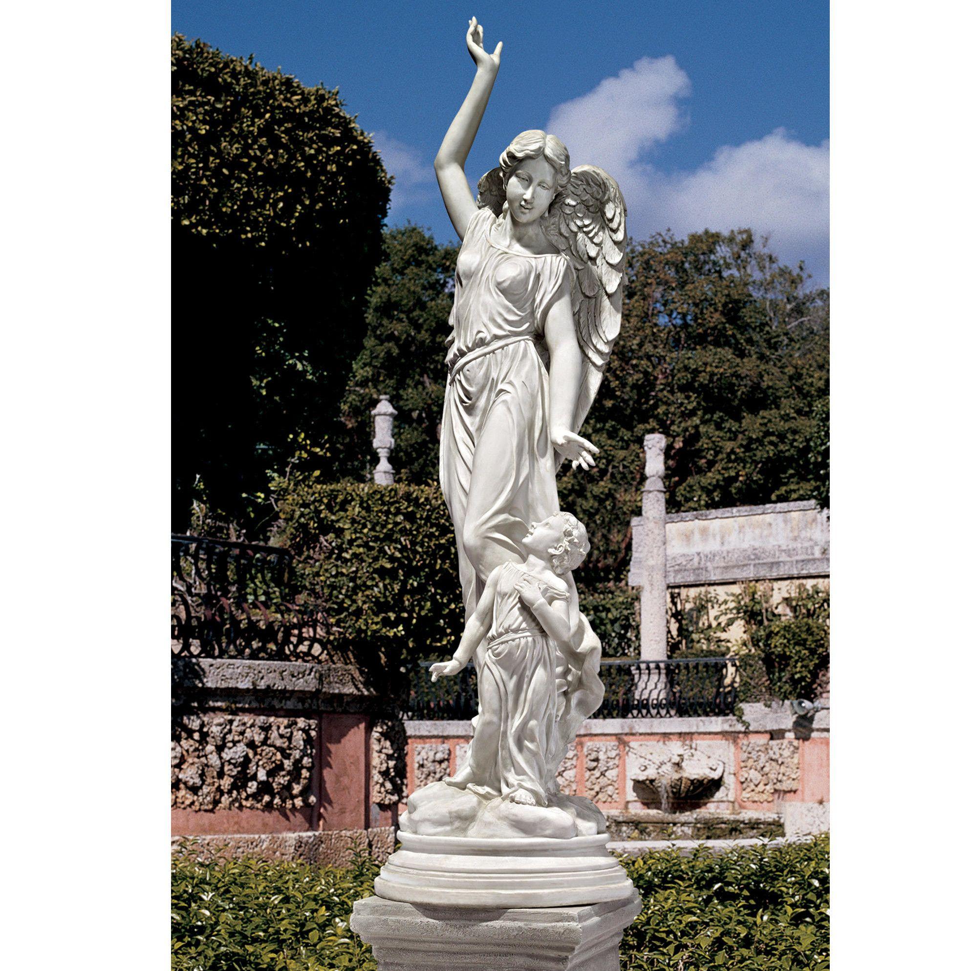 children garden statues. Queen Of Angels, Guardian Children Statue Garden Statues