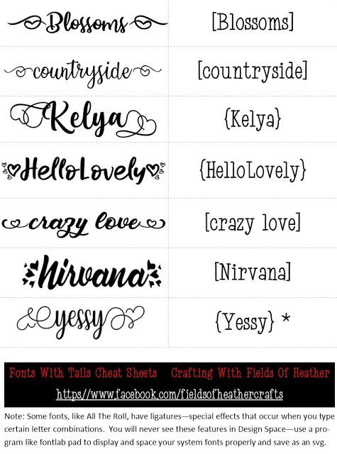 Glyph Font : glyph, Fonts, Tails, (Glyphs), Cheat, Sheet, Cricut, Fonts,, Glyph, Font,, Tutorials