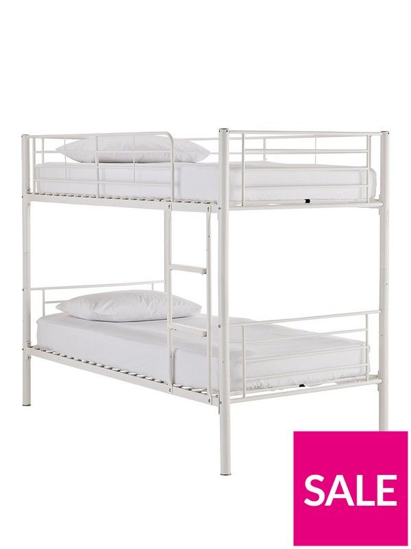 Kidspace Domino Metal Bunk Bed Frame With Mattress Options Roccos
