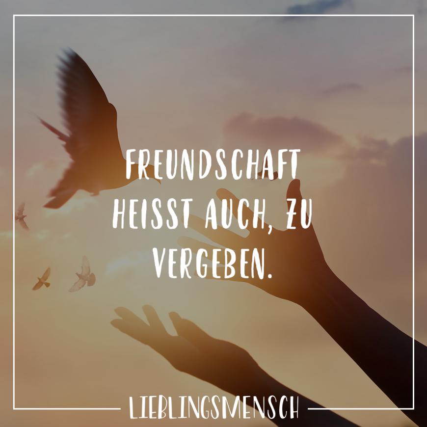 Freundschaft heisst auch, zu vergeben | Quotes | Friendship Quotes