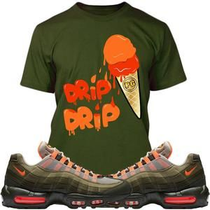 ed06095e5e6c Air Max 95 Olive Dark Stucco Sneaker Tees Shirts - ICE CREAM PG ...
