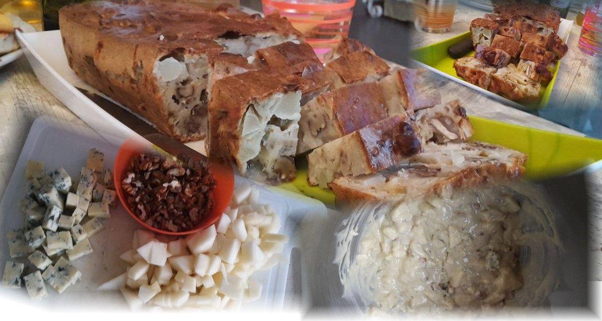 Découvrez les recettes Cooking Chef et partagez vos astuces et idées avec le Club pour profiter de vos avantages. http://www.cooking-chef.fr/espace-recettes/soupes-et-entrees/cake-poires-bleu-de-bresse-et-noix