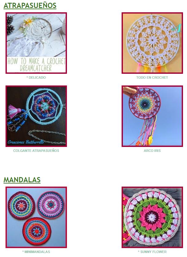 Mandalas y atrapasueños con patrón gratuito | Ganchillo/crochet ...