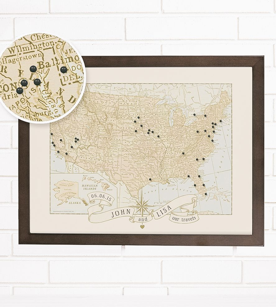 Custom United States Push Pin Travel Map By Imaginenations On Scoutmob Usa Travel Map Push Pin Map Vintage Usa Map