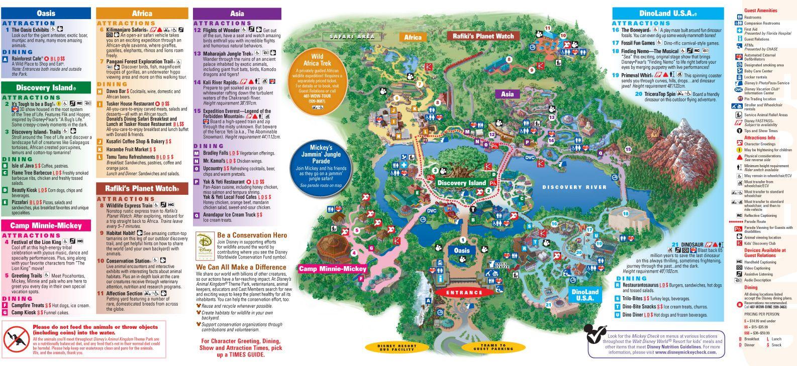 Printable+Animal+Kingdom+Map+2014 | ... Park and Resort Maps ...
