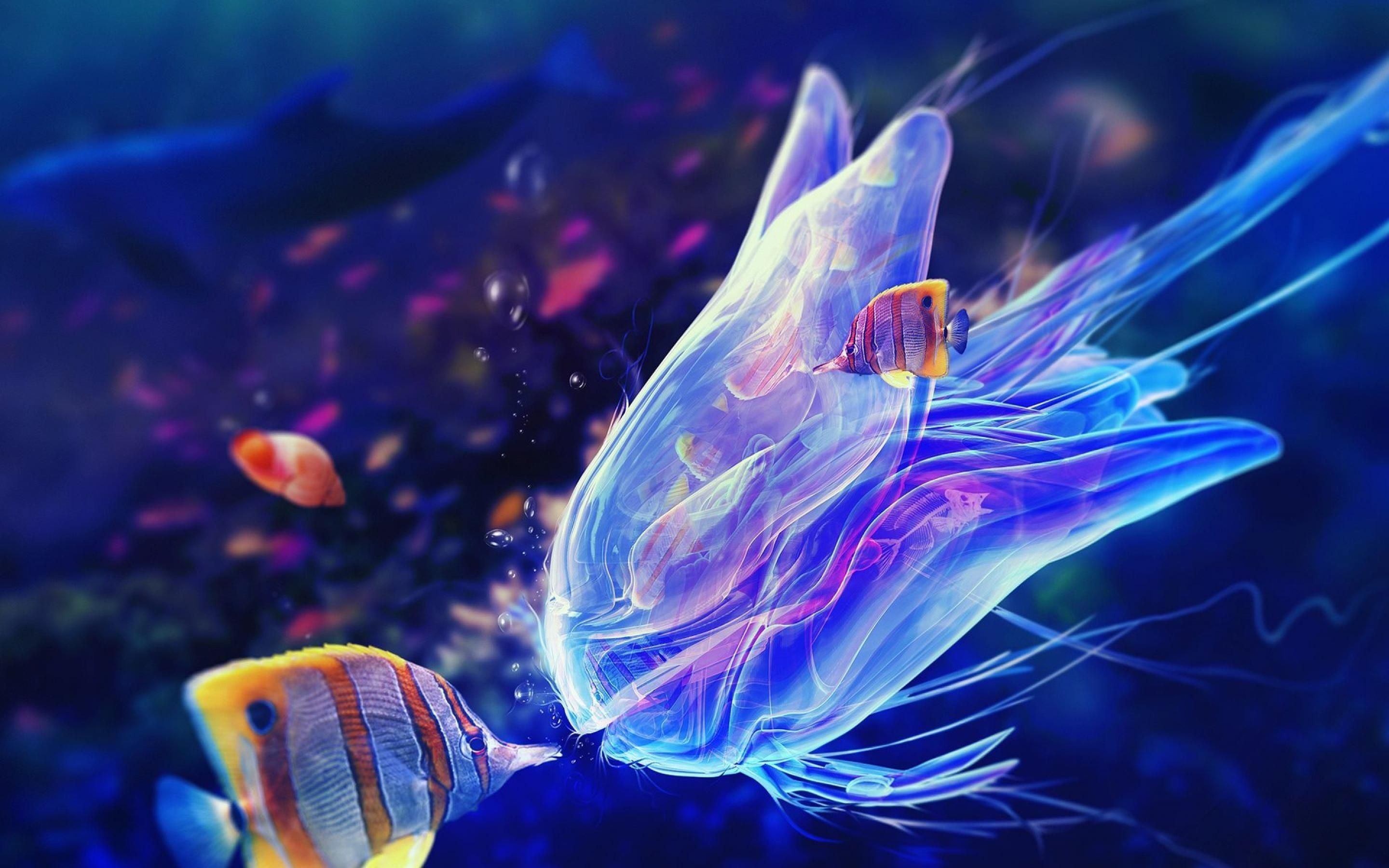 Jellyfish Wallpaper For Android Rjn With Images Deep Sea