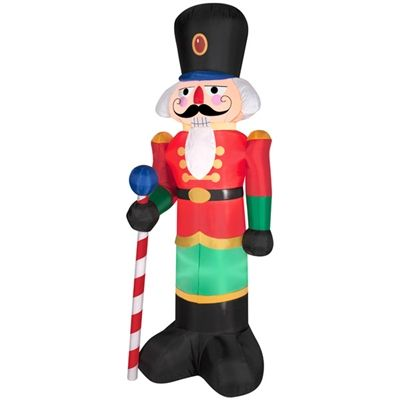 Airblown Inflatable Nutcracker Available At These Retailers The - inflatable christmas yard decorations