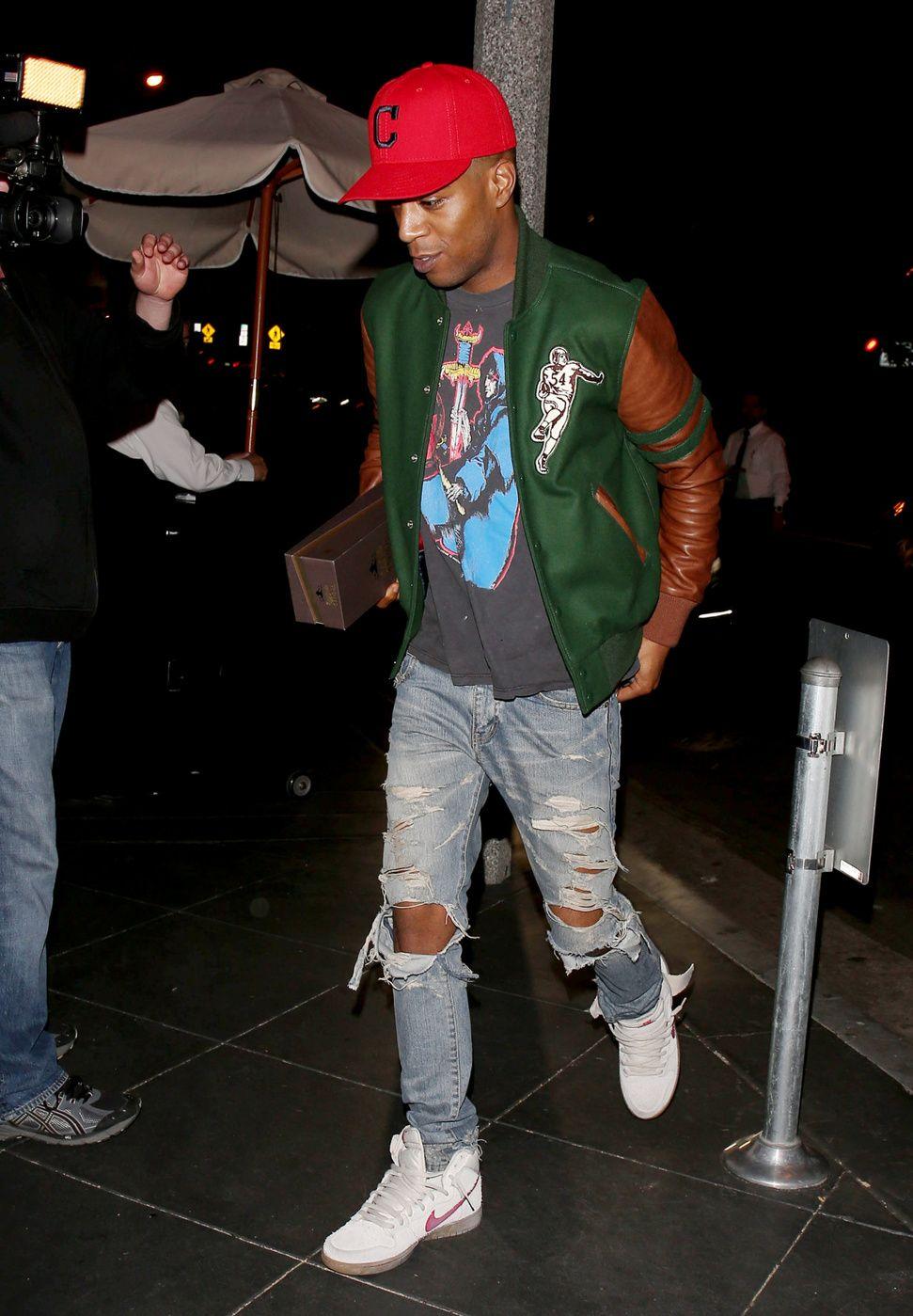 Kid Cudi seen leaving Miles Teller's birthday party at Chi Lin restaurant in Los Angeles