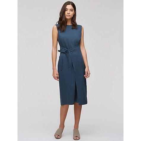 Buy Jigsaw Gaberdine Twill Pinafore Dress, Atlantic Online at johnlewis.com