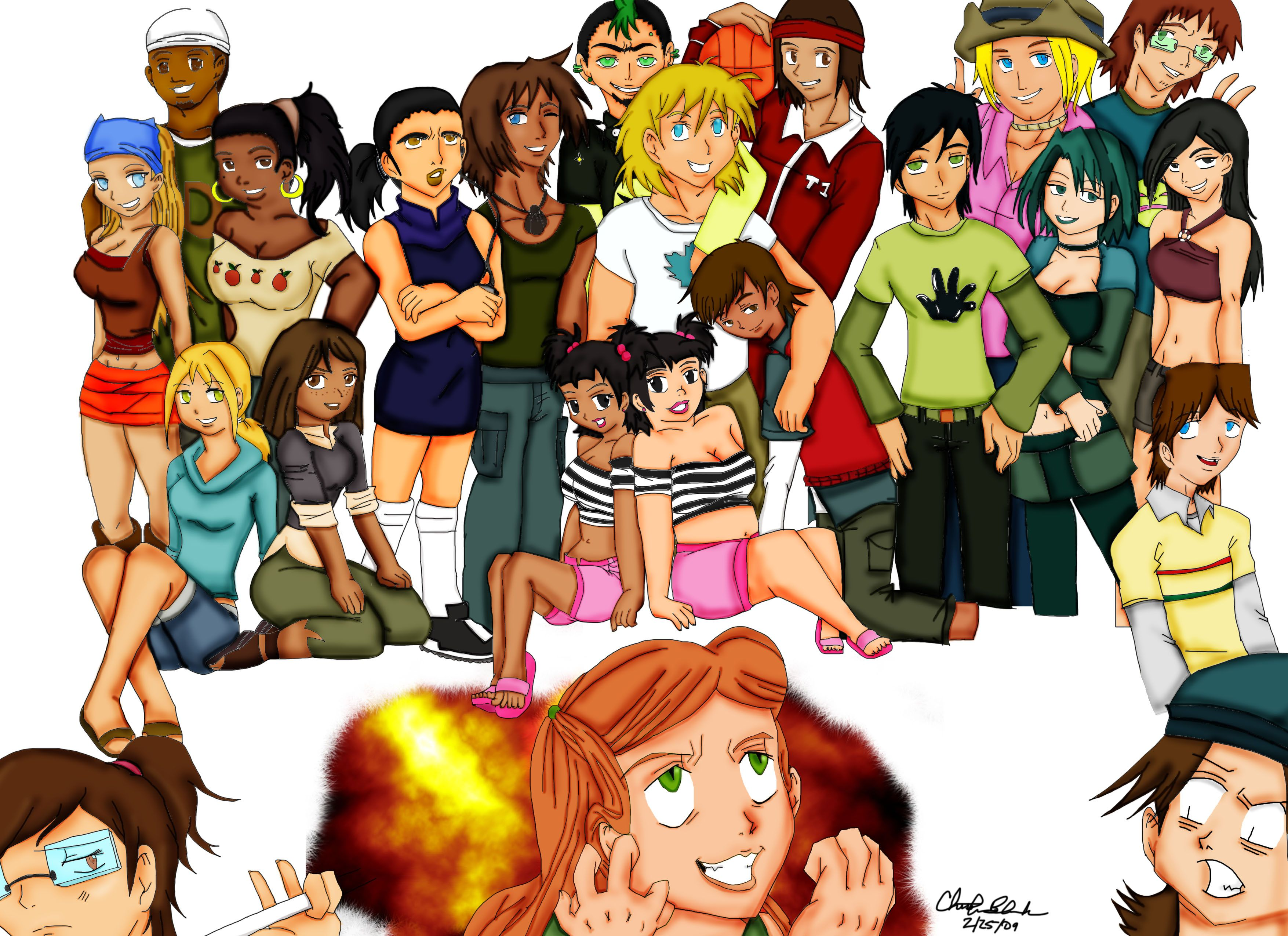 Total Drama Island Anime Style by