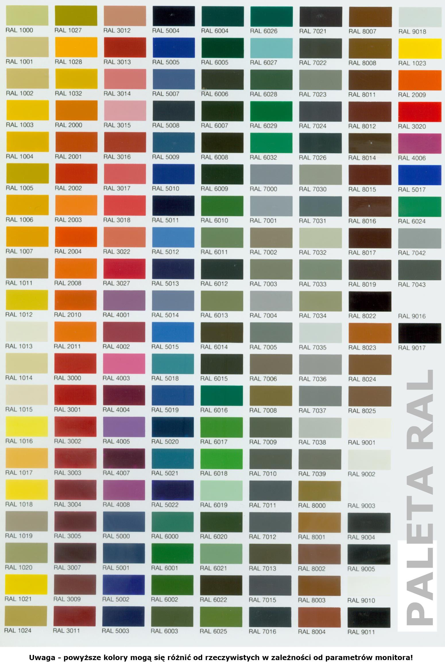Ral All Colors  Colors