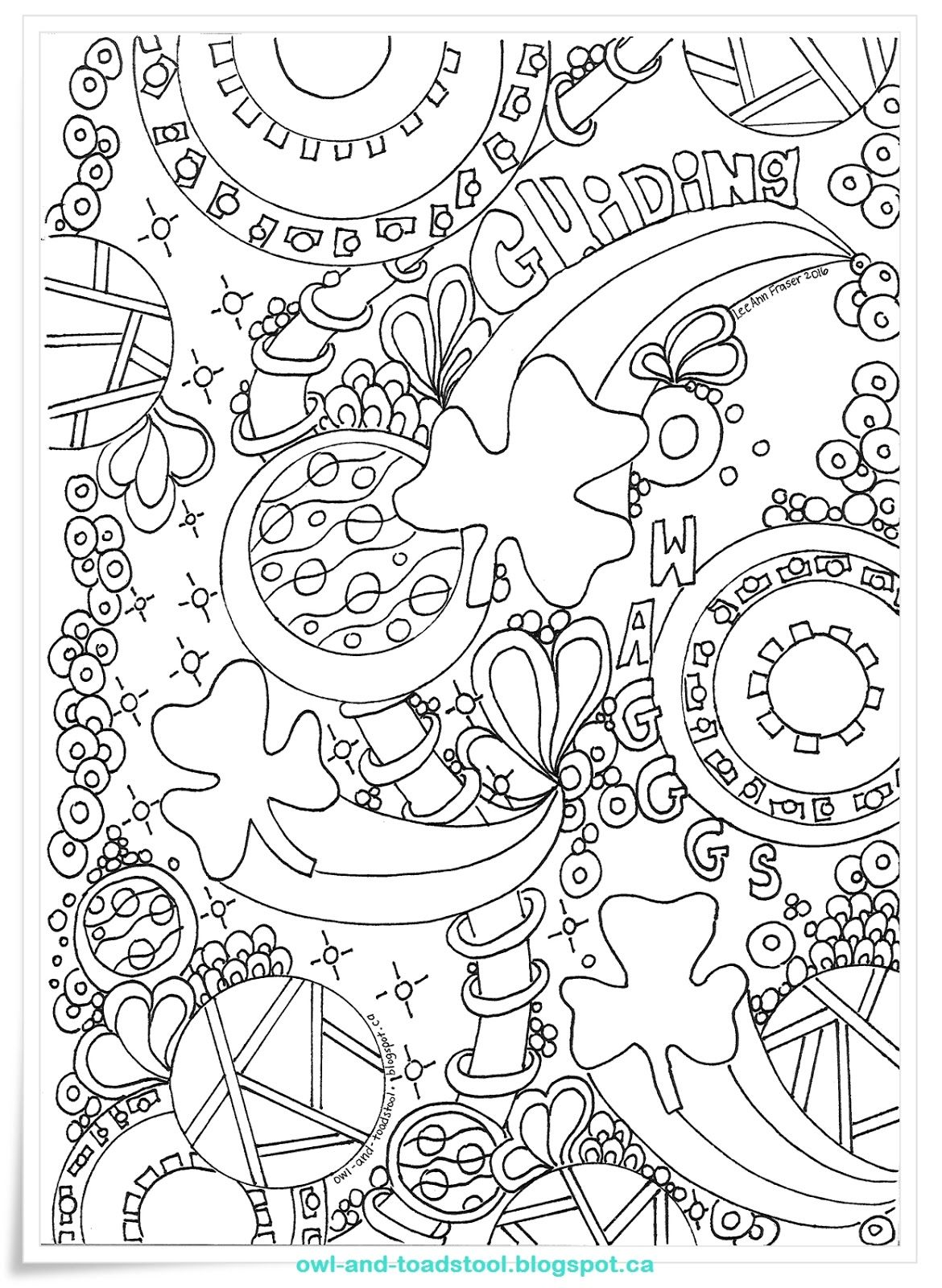 Owl & Toadstool: Doodle- Guiding Wagggs | Girl Scout ideas ...