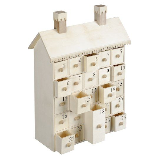 The Unfinished Advent Calendar By Artminds At Michaels This Wooden