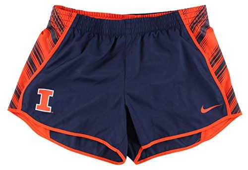 NIKE Nike Womens Illinois Fighting Illni College Warp Pacer Shorts Navy Blue. #nike #cloth #