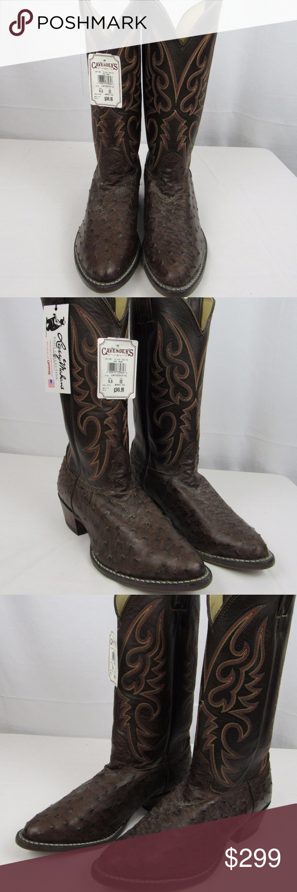 f6bd04f066a Larry Mahan full quill 9 1/2EE ostrich boots Made in USA Exceptional ...