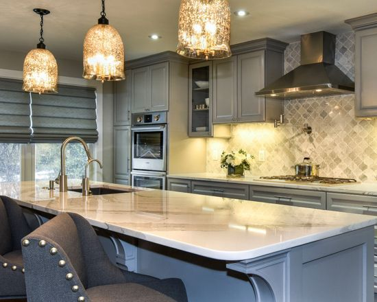 Best Traditional Kitchen In Pebble Gray Traditional Kitchen 400 x 300