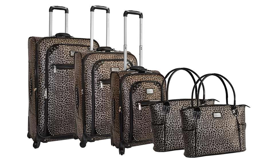 $299.99 for an Adrienne Vittadini 5-Piece Luggage Set ($1,320 List Price). 3 Colors Available. Free Shipping & Returns.